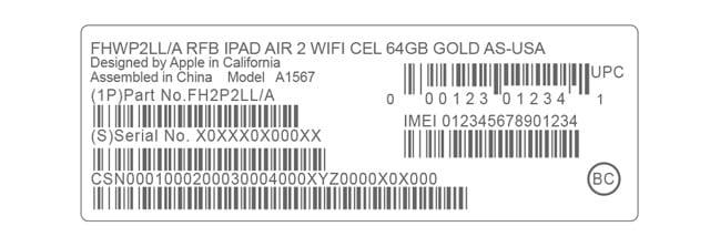 serial number on packaging