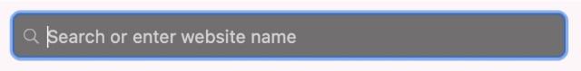 Smart Search Bar in Private Browsing Safari window