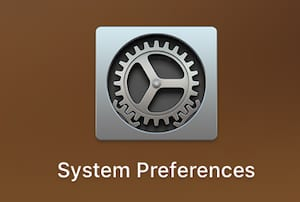 Screenshot of the System Preferences icon from macOS