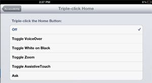 Triple-click home