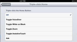 Triple-click home