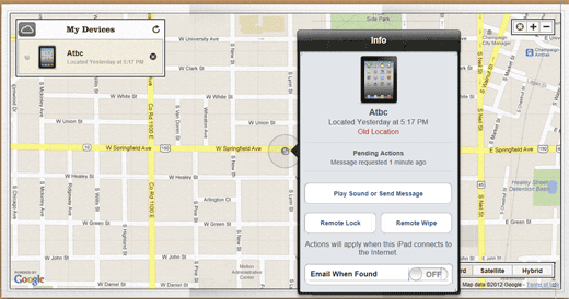 Locate your Device via Find My Phone