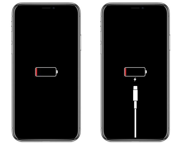 iPhone charging screens