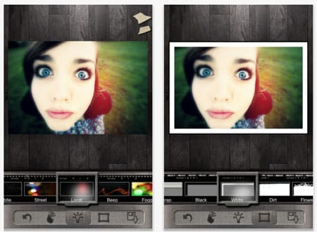 Shoot and edit your picture. With Pixlr-o-matic