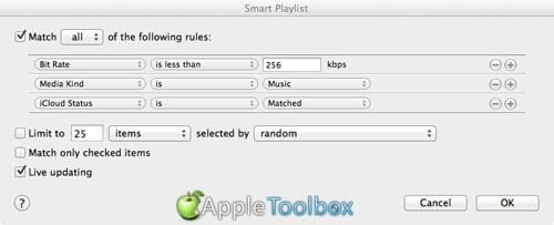 Make a smart-playlist