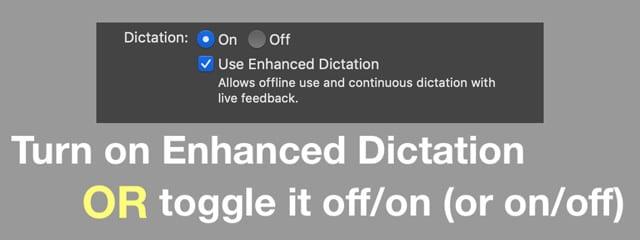 enhanced dictation on Mac