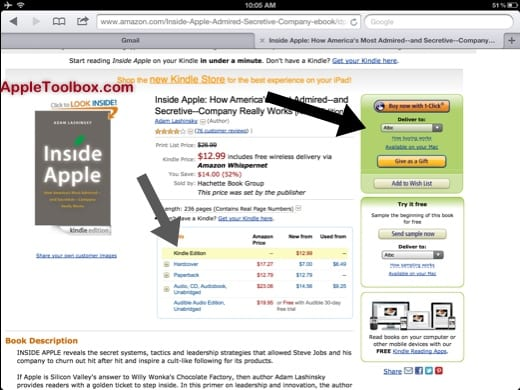 Amazon iPad sync kindle