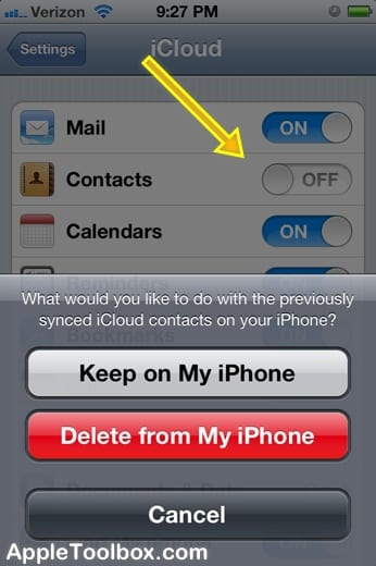 iCloud Contacts Sync