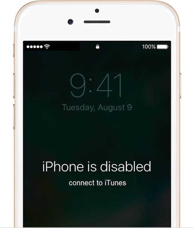 iPhone is disabled, connect to iTunes.