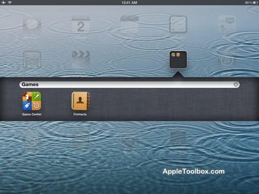 iPad create a folder