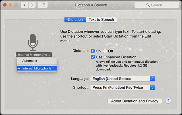 Mac OS X: Dictation not working; how to fix