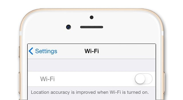 iPhone WiFi is grayed out