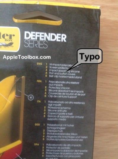 iPhone Case typo