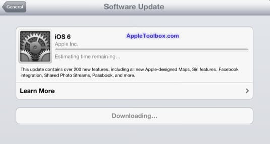 iOS software updating