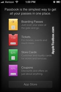 Passbook emtry app store