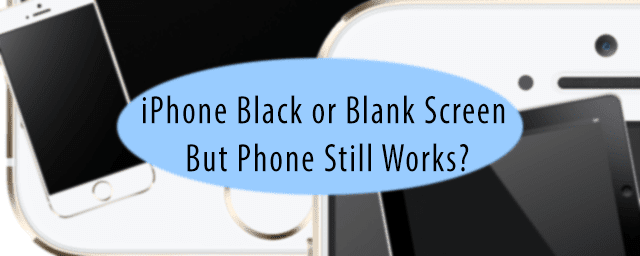iPhone Black or Blank Screen But Phone Works