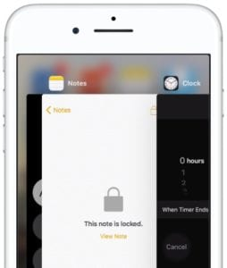 Multitasking view on iPhone
