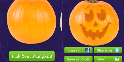 Carve-a-Pumpkin from Parents magazine app for ios