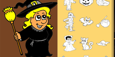 Halloween Coloring Book! app