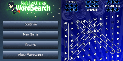 Halloween word search app
