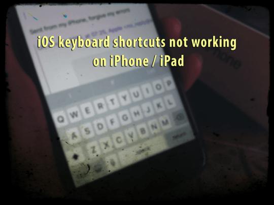ios keyboard shortcuts not working on iphone ipad appletoolbox. Black Bedroom Furniture Sets. Home Design Ideas