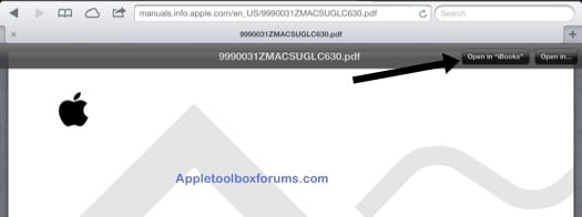 open pdf in ibooks