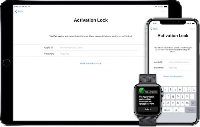 Activation lock applies to all your devices.
