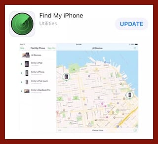 Find My iPhone in the App Store.