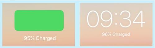 iPad mini charging on the Lock screen.