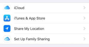 Set Up Family Sharing in Apple ID settings