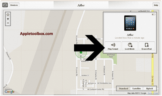 Find My iPhone play sound to locate your device