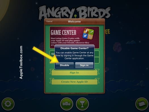 How to completely disable Game Center: Remove your account