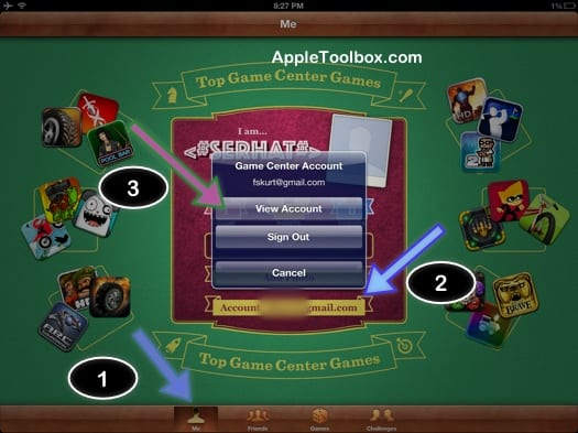 Game Center Account