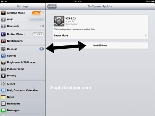 iOS 6.0.1 install