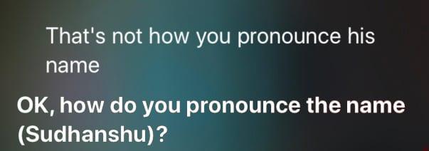 train siri to pronounce a name