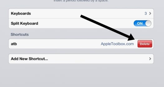 Add, Delete Keyboard Shortcuts for iPhone, iDevices