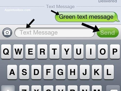 green not iMessage