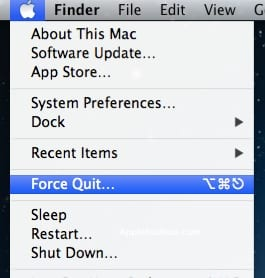 Apple Force Quit Unresponsive Applications