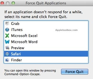 Force Quit Apps Mac OSX