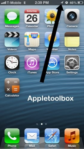 google map apps causing your iphone battery drain too fast appletoolbox. Black Bedroom Furniture Sets. Home Design Ideas