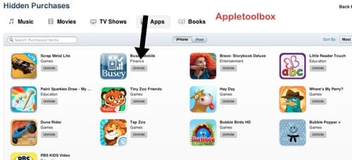 How to hide or unhide your App Store, iBookstore and iTunes
