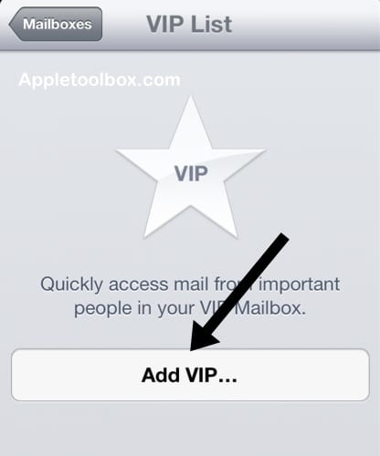 vip list add iOS