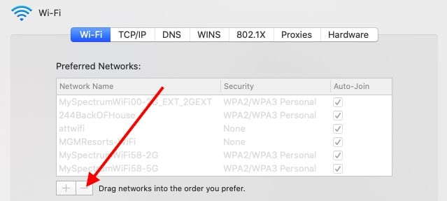 Delete Personal Hotspot wi-fi from MacBook