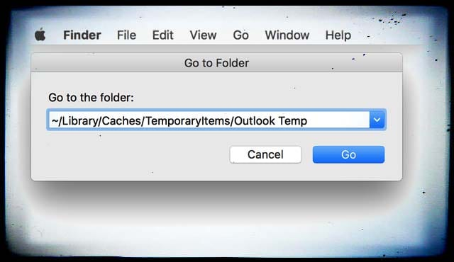 How to find Outlook temp files: Mac