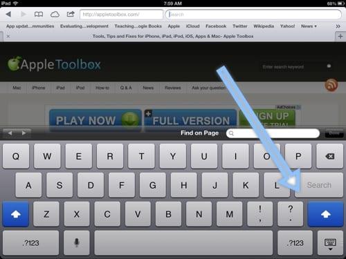 Caps Lock on iPad and iPhone