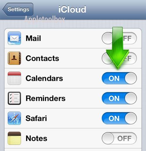 iOS iCloud set up