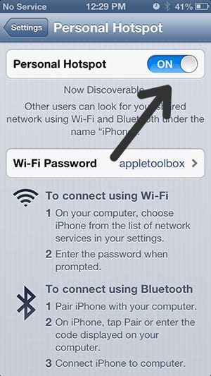 iPhone/iPad hotspot on