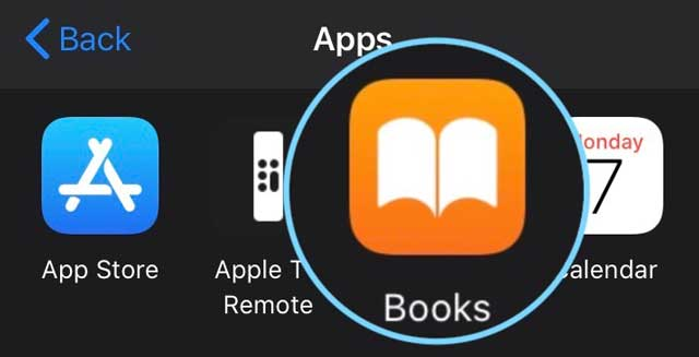 create a new shortcut for Books