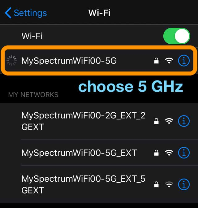 use 5 GHz WiFi on your iPhone for faster downloads and uploads