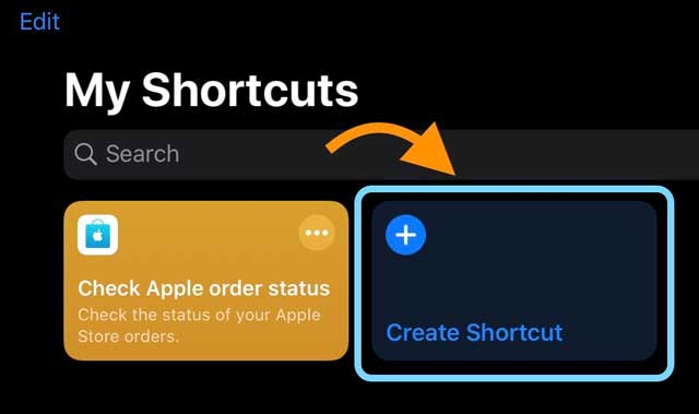 make a new shortcut in the iOS Shortcuts app